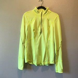 Zella Neon Yellow Half Zip Workout Long Sleeve